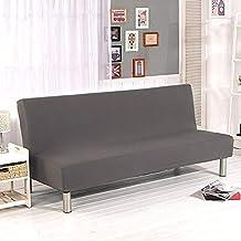 Funda de sofá sin brazos de Surenhap, para sofás de 3 plazas, funda elástica