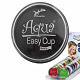 Aqua Schminke Party Wasserschminke schwarz Aquaschminke Wasser Make Up Karneval Accessoires Faschingsschminke Kosmetik Wasserlösliches Makeup