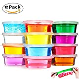 Crystal Clay Slime Putty für Kinder Bildungs-Spielzeug Art Set Geschenke Spielzeug (Pack von 12 Töpfe, 12 Farbe insgesamt ) DIY Toys