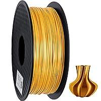 PLA Filament 1.75mm, Silk Style Filament, Geeetech 3D Printer Shine PLA Filament,1kg per Spool,Silk Gold