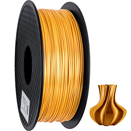 GEEETECH PLA filament 1.75mm Silk Gold, 3D Drucker Filament PLA 1kg Spool