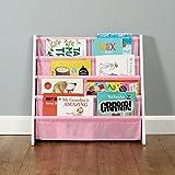 Roost Bücherregal für Kinder - mit 4 Fächern - Weiß/Rosa