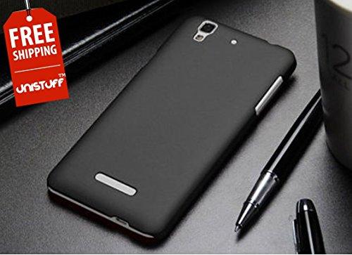 Unistuff(TM) Rubberised Matte Hard Case Back Cover For Micromax YU Yureka (Black)