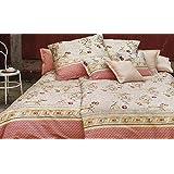 Bassetti Granfoulard.- Colcha copriletto Acanthus V1 tostado para cama de 150, en medida 240 x 255 cm
