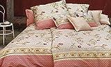 Bassetti Granfoulard.- Colcha copriletto Acanthus V1 tostado para cama de 90, en medida 180 x 255 cm