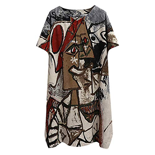 Tee Shirt Femme Casual Loose Tops t-Shirt Imprimé Floral Lâche V-Neck Blouse Top