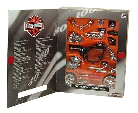 Harley Davidson CVO Custom 2002 (Kit) in Schwarz (1:18 maßstab) Druckguss Modell Motorrad Kit (Bausatz Harley Davidson)