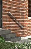 Handlauf-Set aus Aluminium matt, 1500 mm (kürz- und verlängerbar), für Innen & Außen. Zusätzliche Sicherheit für Treppen-Aufgänge, Garten, Hauswand und Innenräume.