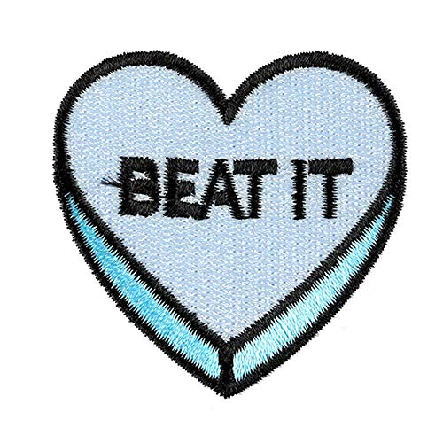 Bobopai 5PCS Embroidery Love Red Heart Patches Sew On Patch Badge Clothes Bag Hat Jeans Applique DIY Sewing Supplies (Style 3)