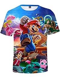 SIMYJOY Niños Super Mario Jugador Camiseta Impresión 3D Niños T-Shirt  Impresión Digital Cool Juego dc3caba2217