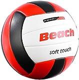 PEARL sports Volleyball: Beachvolleyball mit griffiger Soft-Touch-Oberfläche aus Kunstleder (Beach Volleybälle)
