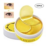 Charmss Masque pour les yeux collagène, Masques anti-rides pour les yeux, Masque Yeux Collagène, Anti-âge gel hyaluronique, Or soin antirides anti-âge pour les yeux Masque contre les cernes (60pc).