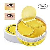 Charmss Collagen Eye Mask Kollagen Augenpads Anti-Falten Pads Kollagen Golden Eye Gel Feuchtigkeit spendende Anti Falten Anti Aging Maske Entfernen Taschen dunkle Kreise & Puffiness (60Pcs-Gold).