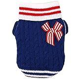 BEETEST Estilo Navy Lindo cachorro perro caliente Puente punto jersey punto ropa invierno del animal...