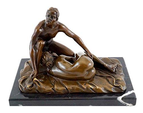 Kunst & Ambiente - Blow Job/Sex Szene - Erotische 2-teilige Bronzefigur - signiert von M. Nick - Sexy Figuren - Frauen Akt - Skulptur