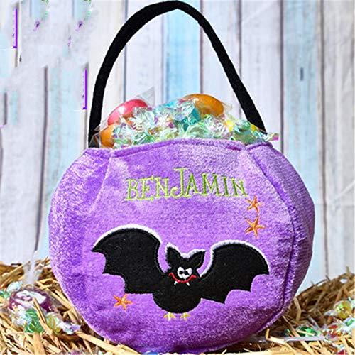 Halloween Tote Halloween Süßes oder Saures Eimer, Fledermaus Hexe Kürbis Süßigkeiten Geschenktüte Kinder Halloween Party 26 * 16 * 17cm