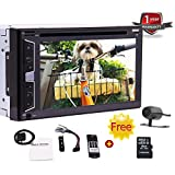 Latest WinCE Style System Car Stereo Double Din 6.2 Inch Touch Screen GPS Navigation Autoradio Support DVD/CD Video Play Bluetooth Microphone FM/AM RDS Radio SD/USB Subwoofer Free Rear Camera