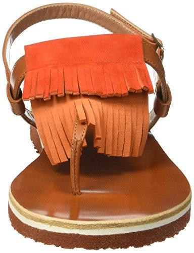 Kallisté 5668, Salomés femme Orange - Orange (COGNAC+PESCA)