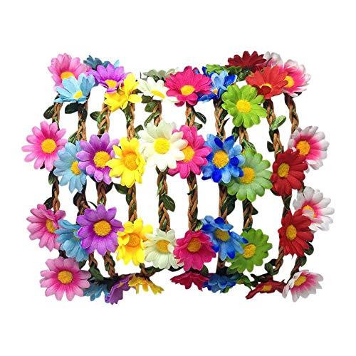 aheadad 12pcs Color al Azar Delicado Bohemio Boho Estilo Hippie Flor G