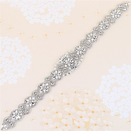 Strass Applikation für Braut Gürtel Hochzeit Kleid Schärpe von Eisen auf oder Nähen