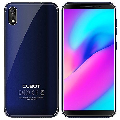 Móvil Barato, Cubot J3 (2018) Smartphone Libre Pantalla 5.0 Pulgadas 18:9, Android Go Quad-CoreMT6580 Dual SIM 3G /...