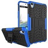 COVO® Festigkeit und Flexibilität Zurück Cover Style Smartphone Hülle mit Kickstand für OPPO F1 Plus (Blau)
