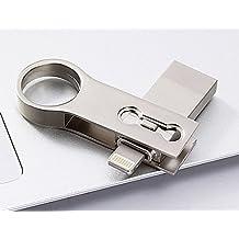 3en 1rayo OTG unidad flash USB Pen Drive para iPhone/iPad/teléfonos Android USB 3.0pendrive memory stick plata 256 GB