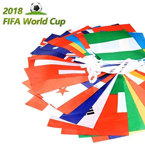 Flaggen, 32,8Ft 14,2cm/19,8cm Flagge Banner für World Cup, Sport Clubs, Party Events Dekorationen, 20X28cm ()