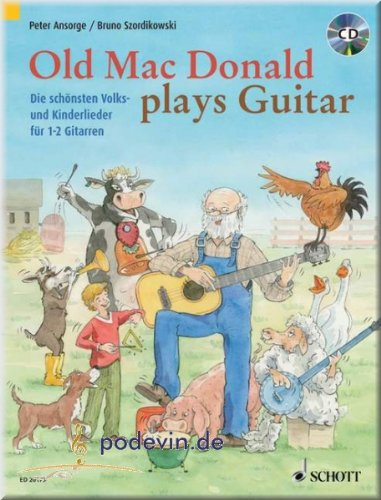 Old Mac Donald plays Guitar - Gitarrenoten [Musiknoten] (Mein Deutsch Happy Birthday Bruder In)