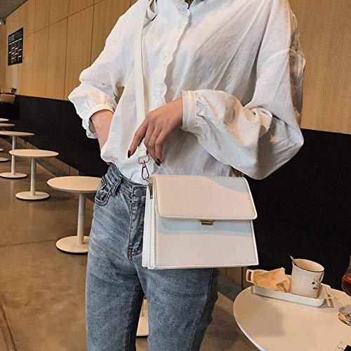 XYLLYT Luxusmarke Quadrat Flip Bag hochwertigem Leder Damen Designer Handtasche einfache Schulter Messenger Bag