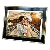 FineInno Glas Bilderrahmen Fotorahmen Portraitrahmen Photo Frame Picture Frame für Fotos 15 x 10cm Desktop Display Geschenke für Freund und Liebhaber (Transparent Rahmen)