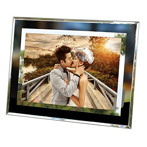Fineinno cornice 15 x 10 cm cornice foto ritratto cornice cornice bianca cornice fotografica per foto desktop display regali per amici e amanti (vetro da 6 pollici)