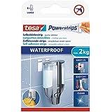 Tesa Powerstrips Waterproof LARGE Languettes Auto-Adhésives de Fixation – Charge Jusqu'à 2 kg – Repositionnables – Conçu pour