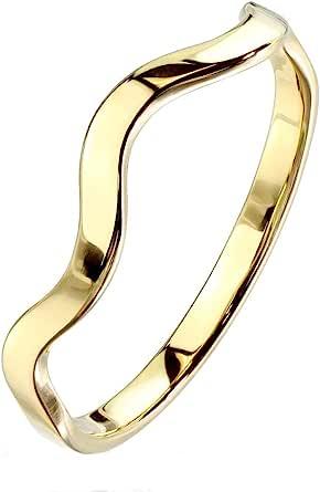 Paula & Fritz® Anello da donna impilabile, 3 mm, in argento, oro giallo, oro rosa, linea colorata, anello dell'amicizia, anello per partner, in acciaio inox 316L 47 (15) – 60 (19,1)