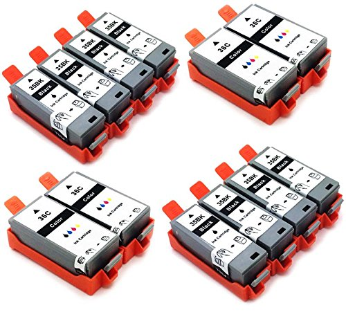 12 x cartuchos de tinta compatibles con impresora PGI-35 negro CLI-36 color Canon Pixma IP110 IP100 Portable IP100 V Mini260