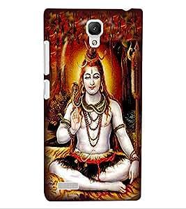 ColourCraft Lord Shiva Design Back Case Cover for XIAOMI REDMI NOTE 4G