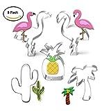 Anokay Fondant Ausstecher Ausstechformen Sommer Keksausstecher Flamingo Ananas Palme aus Edelstahl für Tortendeko Backen Zubehör