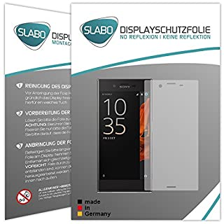 2 x Slabo screen protector Sony Xperia XZ screen protection film protectors (reduced dimensions of the screen protectors due to a curved display)