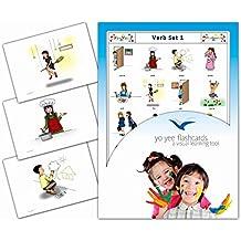 Tarjetas Educativas Inglés - Primario - Secundario - Adultus - Verbos 1 - Verbs Flash Cards in English