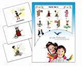 Action Words and Verbs Flash Cards for Language Learning - Set 1 - Vocabulary Picture Cards
