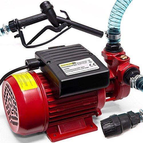 Deuba Dieselpumpe Ölabsaugpumpe | 40L/Min | 370W | inkl. Zapfpistole+Zubehör - Absaugpumpe Ölpumpe Heizöl