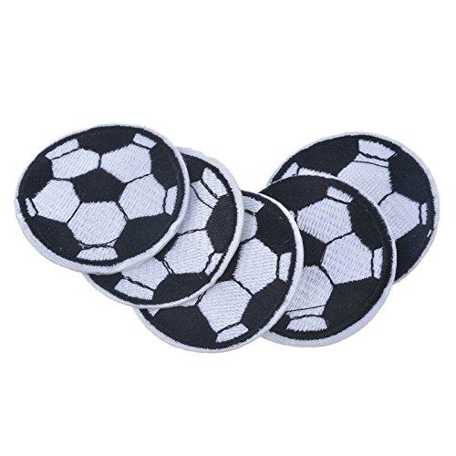 Yalulu 10 Stück Fußball DIY Stickerei Spitze Aufnäher Aufbügler Aufnähen Applikation Iron on Patches Für T-Shirt Jeans Hut (Flamingo Diy: Kostüm)