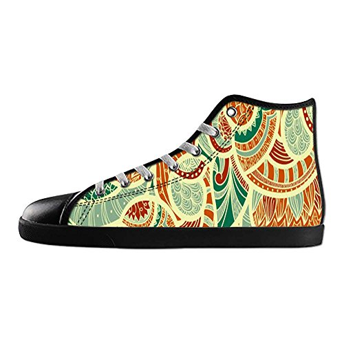 Dalliy Paisley Colored Print Men's Canvas Shoes Lace-up High-top Footwear Sneakers Chaussures de toile Baskets E