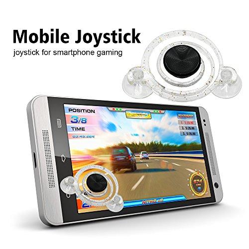 Preisvergleich Produktbild Suntapower Mobile Joystick Regler,2 Stk Daumengriff spielen für iPhone, iPad,Samsung Galaxy, Huawei, HTC und Android Geräte Mobiltelefon