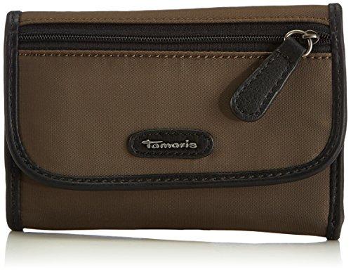 Tamaris KIRSTY Small Wallet with Flap 7060142-319 Damen Geldbörsen 15x10x2 cm (B x H x T), Braun (tobacco 319) (Flap Tote Tasche Kleine)