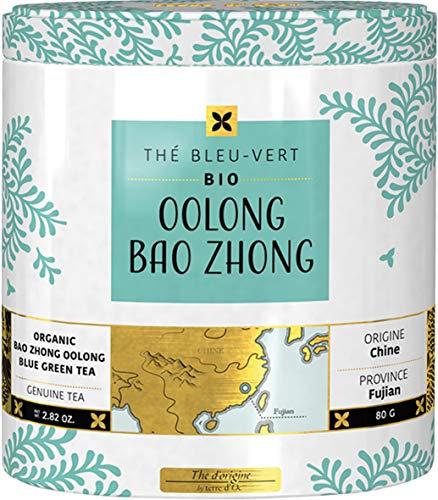 Terre d'Oc – Grün-blauer Bio Tee aus China mit Holz- und Liköraromen (Oolong Bao Zhong) in dekorativer Metalldose 100g