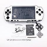 Full Housing Coque Housse avec boutons Vis Tournevis pour Sony PSP 20002001200220032004 Silver