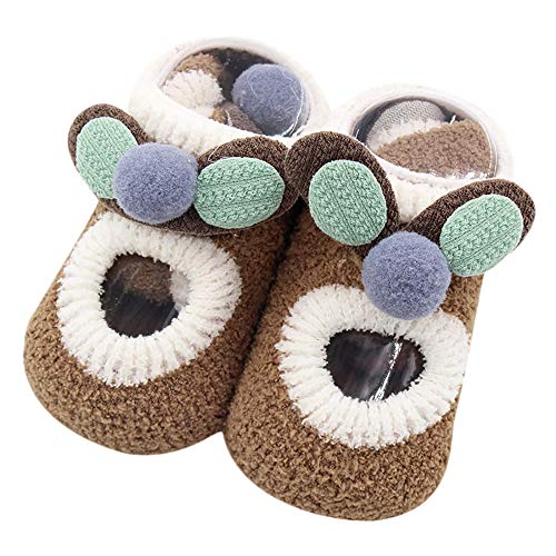 ❤️Amlaiworld Bébés garçons Filles Cartoon Ears Floor Socks Chaussettes antidérapantes Chaussons pour bébé 0-4Ans