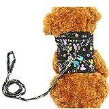 Ouken Carino Cane imbracature Gilet Facile Regolabile con Materiale Traspirante Make Dog ' s Walk Sicurezza e Comodi Cani bardatura vestibilità per Piccolo Cane Medio-Piccolo Nero