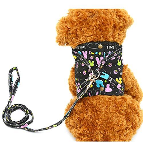 Trifycore Pet Hunde-Welpen Geschirr-Riemen-Kasten Kleiner Hund Lenkung Easy Control Vest (Größe M) führt, Pet Supplies Zubehör